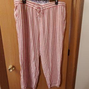 2/ $35 Nwot Old Navy linen pants wide leg XXL